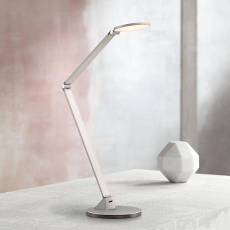 George Kovacs Caswell Chiseled Nickel LED Desk Lamp