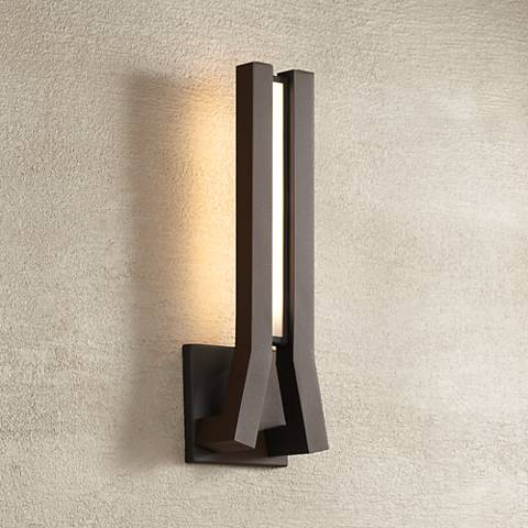 "George Kovacs Tune 16"" High Sand LED Outdoor Wall Light"