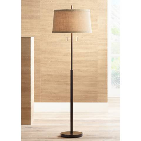 Nila II Bronze Double Pull Chain Floor Lamp