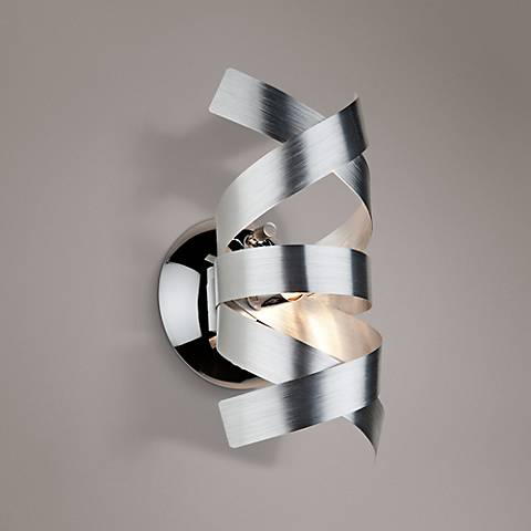 "Artcraft Bel Air 9"" High Chrome Wall Sconce"
