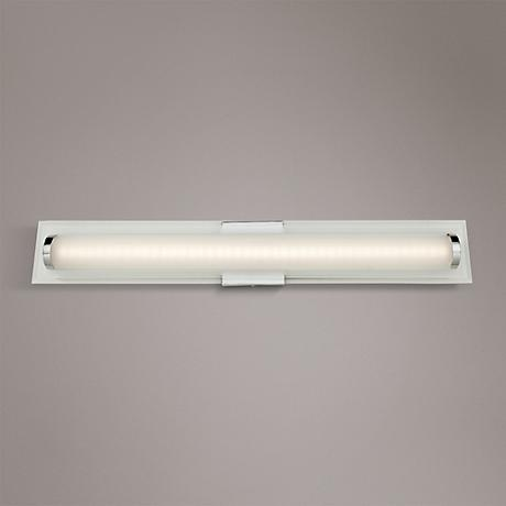 "Artcraft Turin 31"" Wide Chrome LED Bath Light"