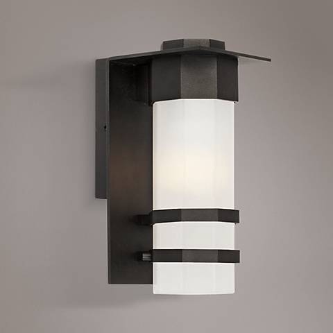 "Artcraft Bedford 11""H Black LED Outdoor Wall Light"