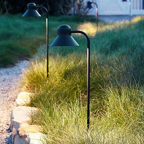 """Jayce 24 1/2"""" High Black LED Landscape Path Light"""