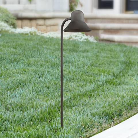 "Jayce 24 1/2"" High Textured Black LED Landscape Path Light"