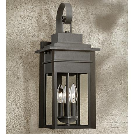 "Bransford 19"" High Black Iron Outdoor Wall Light"