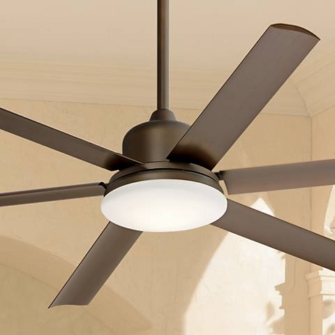 "60"" Casa Arcade™ Bronze Damp LED Ceiling Fan"