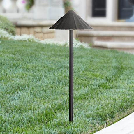 Davenport Black Scalloped 6 Watt LED Landscape Path Light