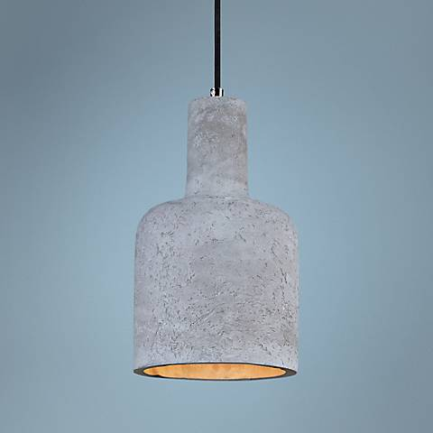 "Maxim Crete 7 1/2""W LED Large Concrete Tier Mini Pendant"