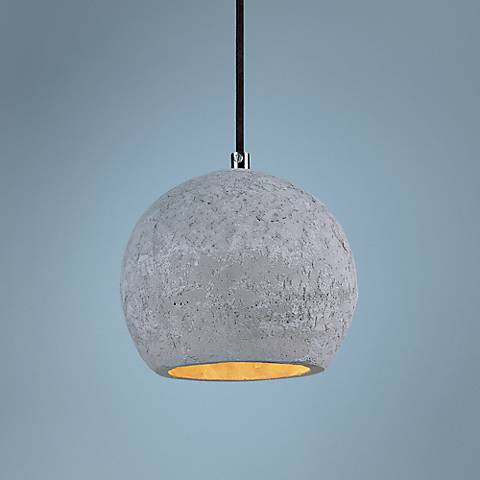 "Maxim Crete 7""W 1-Light LED Concrete Dome Mini Pendant"