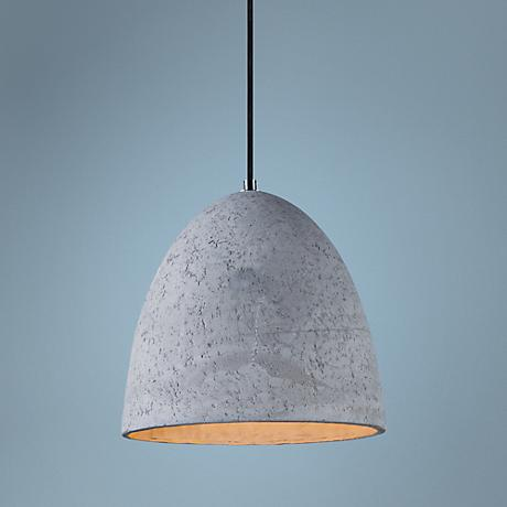 "Maxim Crete 12"" Wide LED Large Concrete Dome Mini Pendant"