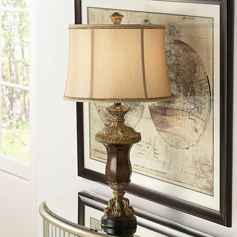 Arbois Warm Brown Urn Table Lamp
