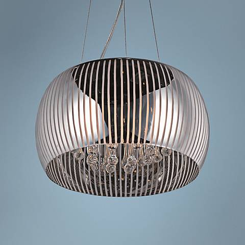 "ET2 Sense II 15 3/4"" Wide 5-Light Chrome Dome Pendant"