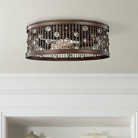 "Colorado Springs 16"" Wide Chestnut Bronze Ceiling Light"