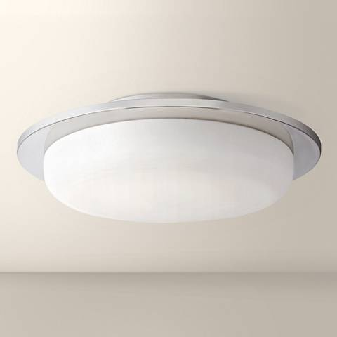 "Possini Euro Artas 14 1/2""W Round Chrome LED Ceiling Light"