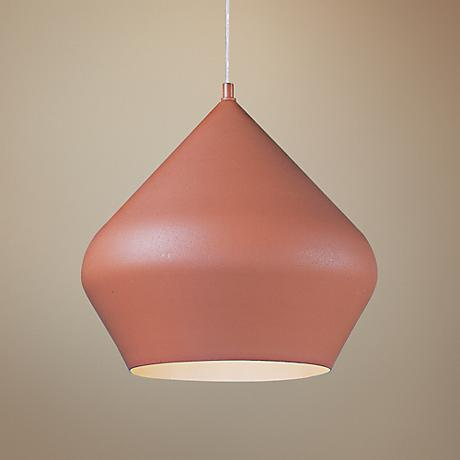 "ET2 Apex 13 1/2""W Textured Brick Aluminum 1-Light Pendant"