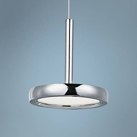 "ET2 Timbale 6 3/4"" Wide Chrome LED Mini Pendant"