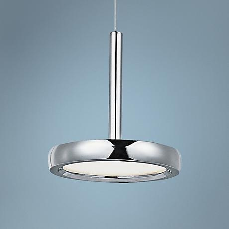"ET2 Timbale 6 3/4"" Wide Chrome 1-Light LED Pendant"