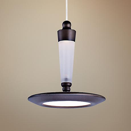 "ET2 Hilite 6 1/4""W Edge-Lit 1-Light LED Bronze Pendant"