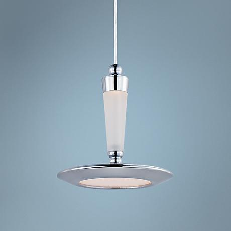 "ET2 Hilite 6 1/4""W Edge-Lit Chrome 1-Light LED Pendant"