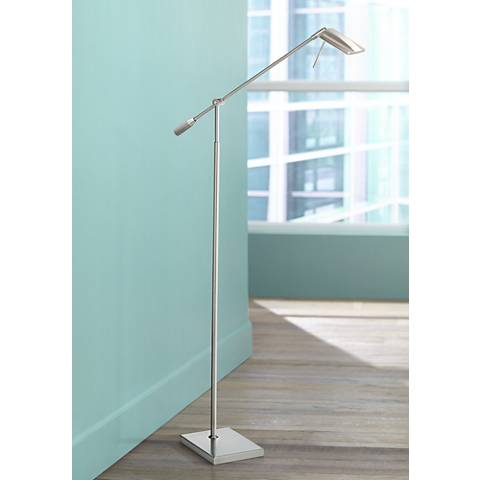 Devin Brushed Steel LED Floor Lamp