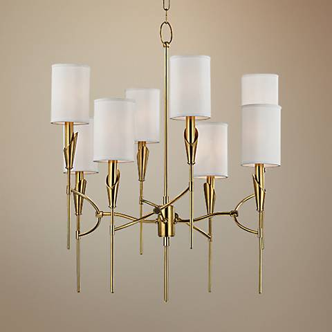 "Hudson Valley Tate 26 1/2"" Wide 8-Light Brass Chandelier"