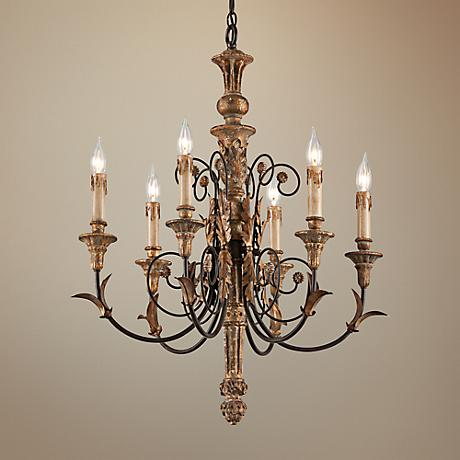 "Luxembourg 24 3/4"" Napoleon Bronze 6-Light Chandelier"