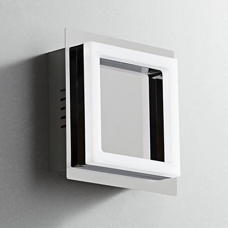 "L-Seven 6"" High LED Frosted Acrylic Square Wall Sconce"