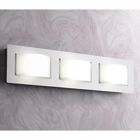 "Sivana 24 3/4"" Wide 3-Light LED Satin Nickel Bath Light"