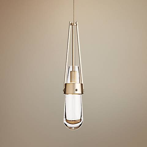 Hubbardton Forge Link Soft Gold Adjustable Mini Pendant