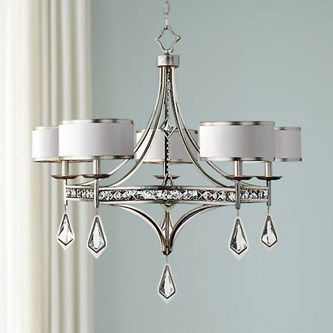 "Uttermost Tamworth 34"" Wide Silver Champagne Chandelier"