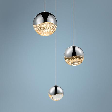 Grapes 3-Light LED Pendant in Chrome by Sonneman