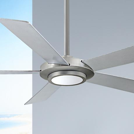 "52"" Minka Aire Sabot Brushed Nickel LED Ceiling Fan"