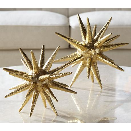 "Gold Sunburst 11"" High Decorative Accent"