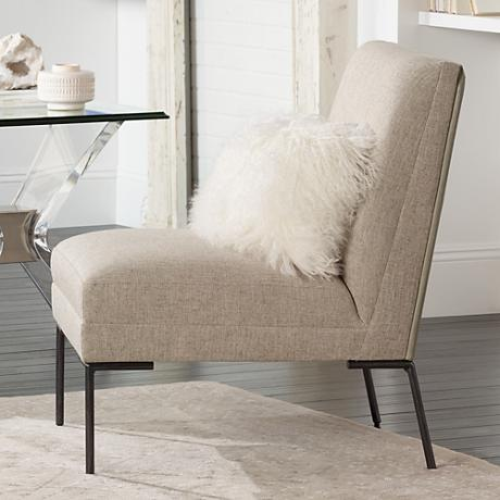 Altair Light Gray Upholstered Modern Accent Chair