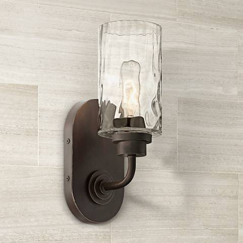 "Gramercy Park 12"" High Old English Bronze Wall Sconce"