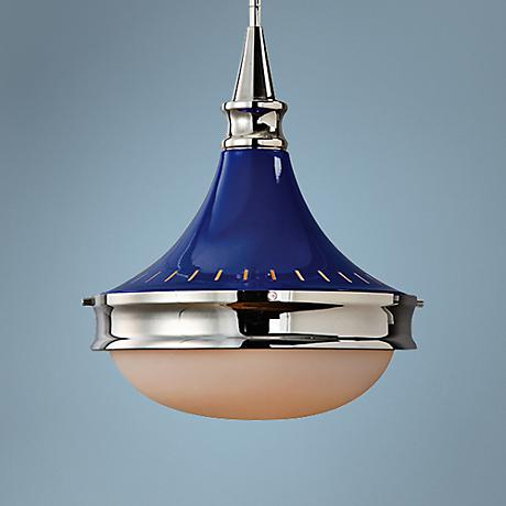 "Uttermost Blueberry 13"" Wide Polished Nickel Pendant"