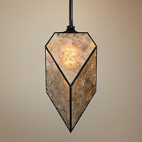 "Uttermost Pelham 8"" Wide Oil Rubbed Bronze Mini Pendant"
