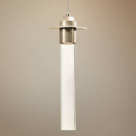 "Hubbardton Forge Airis Gold 4""W Seeded Glass Mini Pendant"