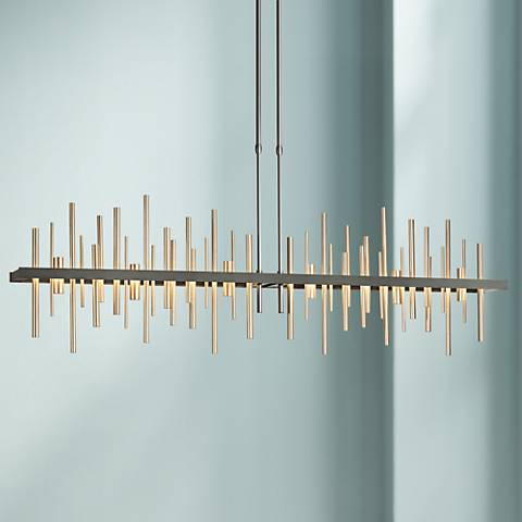 "Hubbardton Forge Cityscape LED 52"" Wide Soft Gold Pendant"