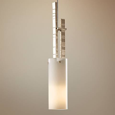 "Hubbardton Forge Ondrian Gold 3""W Opal Glass Mini Pendant"