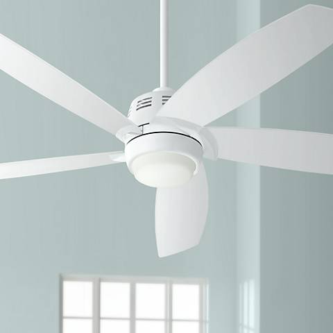 "56"" Casa Ecanto™ White LED Ceiling Fan"
