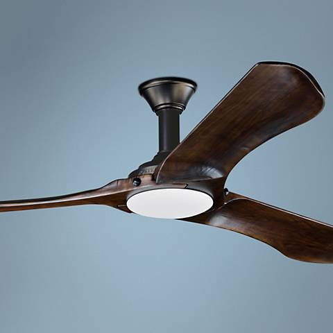 "72"" Minimalist Max Matte Black LED Damp DC Ceiling Fan"