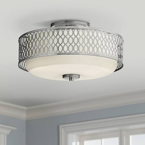 "Hinkley Jules 8 1/4"" High Brushed Nickel Ceiling Light"