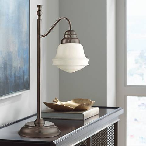 Lite Source Towne Antique Copper Lantern Desk Lamp
