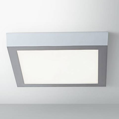 "Strike 9 1/2""W Silver Lo-Profile Square LED Ceiling Light"