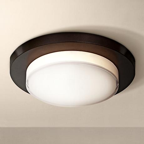 "Link 7 1/2""W Bronze Ceiling or Wall-Mount Round LED Light"