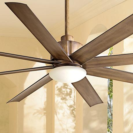 "65"" Slipstream Distressed Koa Outdoor Ceiling Fan"