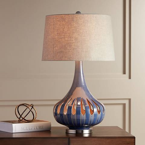 Racquel Ceramic Gourd Nightlight Table Lamp