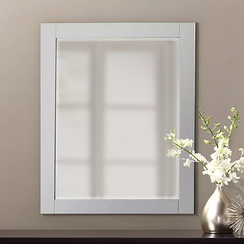 "Avanity White 24""x30"" Decorative Vanity Mirror"