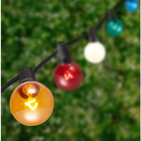 Multicolor 25-Bulb Black Wire 25' Party String Light